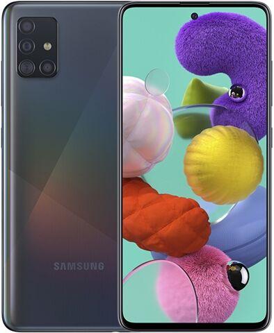 Refurbished: Samsung Galaxy A51 128GB Prism Black, Unlocked A