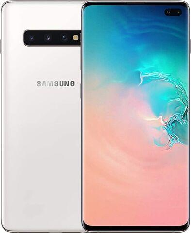 Refurbished: Samsung Galaxy S10 Plus Dual Sim 128GB Ceramic White, Unlocked B