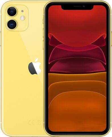 Refurbished: Apple iPhone 11 256GB Yellow, Unlocked C