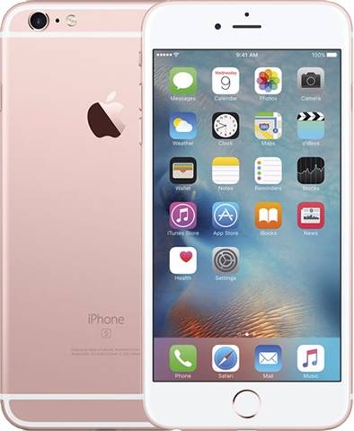 Refurbished: Apple iPhone 6S Plus 16GB Rose Gold, Vodafone B