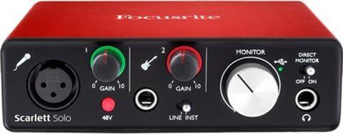 Refurbished: Focusrite Scarlett Solo (2nd Gen) USB Audio Interface, B