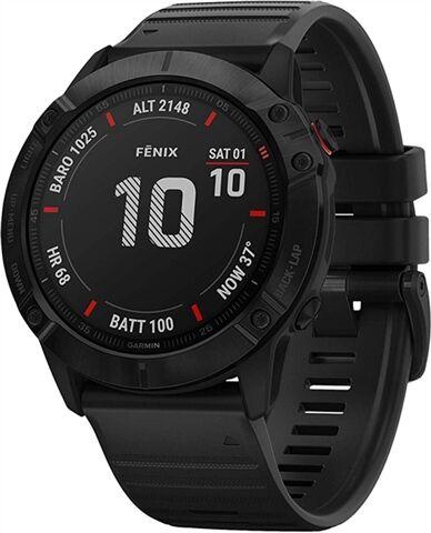 Refurbished: Garmin Fenix 6X Pro 51mm Smartwatch - Black, B