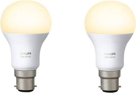 Philips Hue White Personal Wireless Lighting LED B22 Twin Pack, A