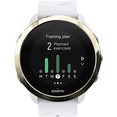 Refurbished: Suunto 3 Fitness Smartwatch - White (With Gold Bezel), B