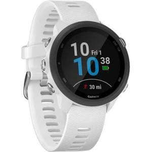 Refurbished: Garmin Forerunner 245 Music+GPS Running Watch - White, B