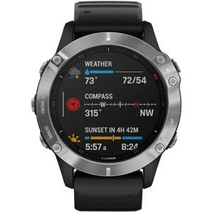Garmin Fenix 6 GPS Multisport - Silver with Black Strap, B