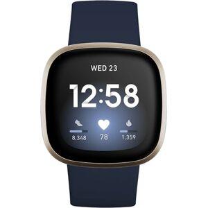Refurbished: Fitbit Versa 3 Health & Fitness Smartwatch - Midnight / Soft Gold, A
