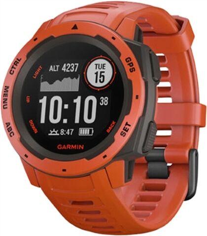 Refurbished: Garmin Instinct GPS Watch Red, B