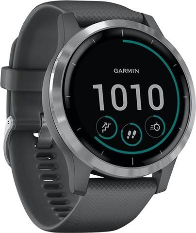 Refurbished: Garmin Vivoactive 4 Activity Tracker Medium/Large - Grey/Silver, B