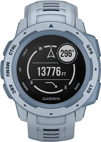 Refurbished: Garmin Instinct GPS Watch Sea Foam Blue, B