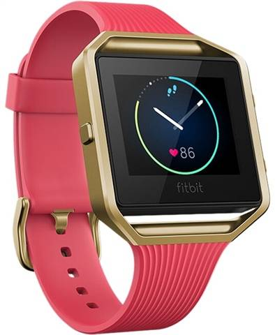 Refurbished: Fitbit Blaze Smart Fitness Watch (Large) - Gold/Pink, B