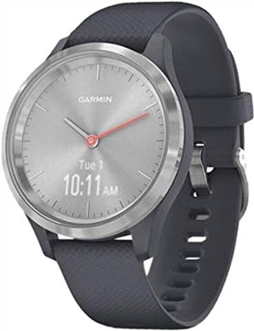 Refurbished: Garmin Vivomove 3S Hybrid Smartwatch Grey Silicone - Silver, A