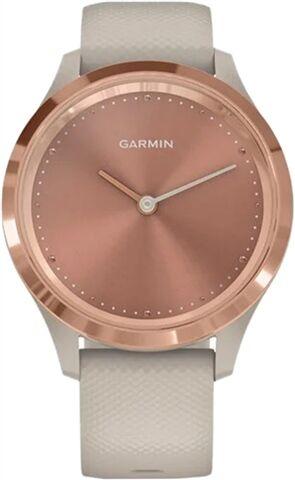 Refurbished: Garmin Vivomove 3S Hybrid Smartwatch - Rose Gold & Light Sand Silicone, B