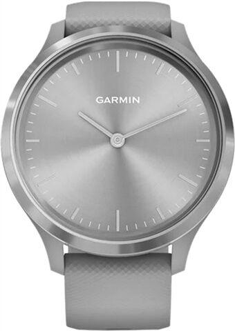 Refurbished: Garmin Vivomove 3 Hybrid Smartwatch Grey Silicone - Silver, B
