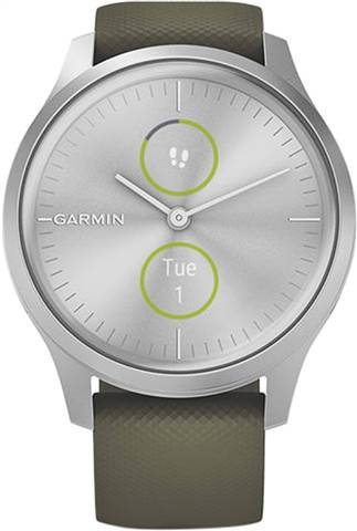 Refurbished: Garmin VivoMove Style Hybrid Smartwatch Moss Green, B