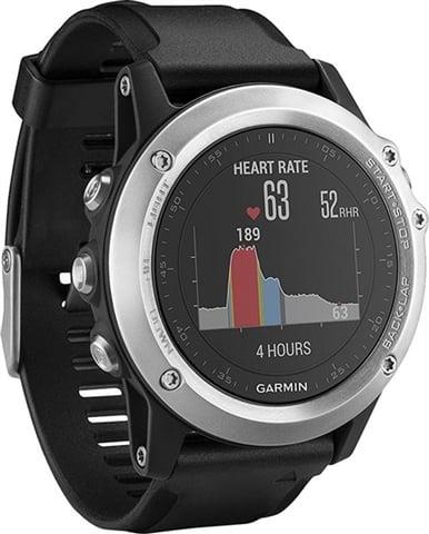 Refurbished: Garmin Fenix 3 HR GPS Watch - Silver/Black, B
