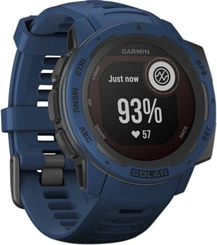 Refurbished: Garmin Instinct Solar GPS Smartwatch - Tidal Blue, B