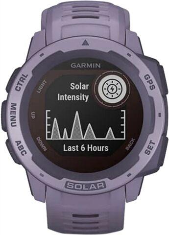 Refurbished: Garmin Instinct Solar GPS Smartwatch - Orchid, B
