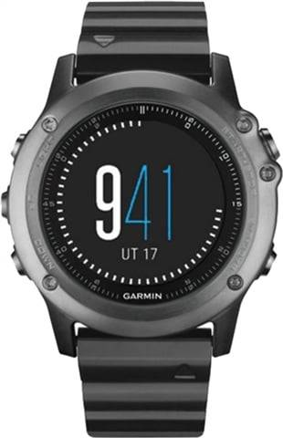 Refurbished: Garmin Fenix 3 Sapphire GPS Multisport Watch - Carbon Grey, B