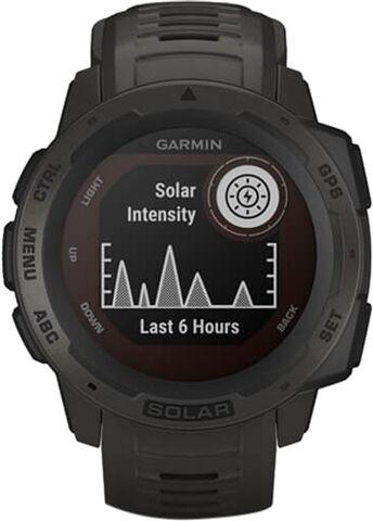 Refurbished: Garmin Instinct Solar GPS Smartwatch - Graphite, B