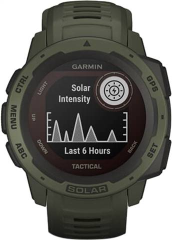Refurbished: Garmin Instinct Solar Tactical Ed. GPS Smartwatch - Moss, B
