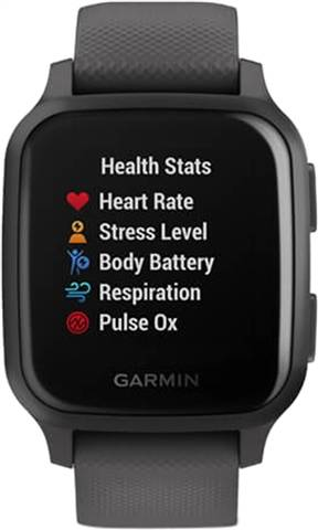 Refurbished: Garmin Venu SQ GPS Smartwatch - Shadow Grey & Slate Bezel, A
