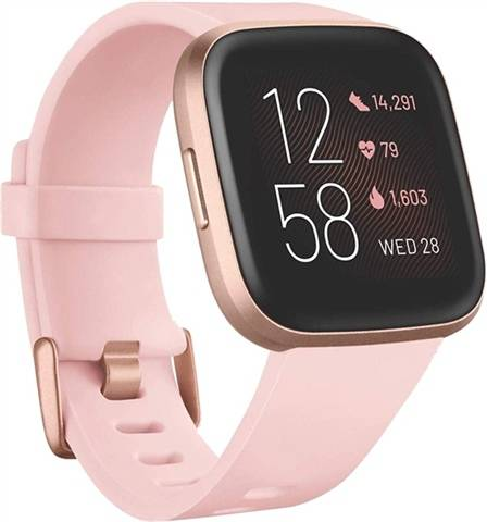 Refurbished: Fitbit Versa 2 Fitness Smartwatch - Petal/Copper Rose, A