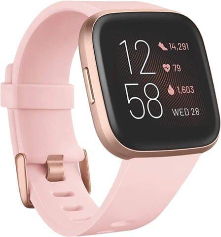 Refurbished: Fitbit Versa 2 Fitness Smartwatch - Petal/Copper Rose, C