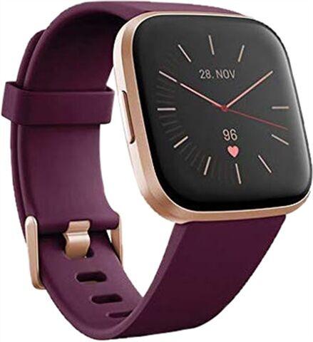 Refurbished: Fitbit Versa 2 Fitness Smartwatch - Bordeaux, B