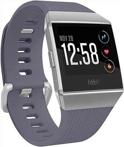 Refurbished: Fitbit Ionic Smartwatch - Silver Gray/Blue Grey, B