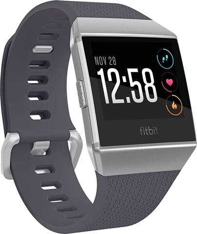 Refurbished: Fitbit Ionic Smartwatch - Silver Gray/Blue Grey, A