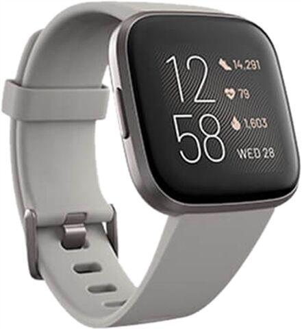 Refurbished: Fitbit Versa 2 Fitness Smartwatch - Mist Grey/ Stone, A