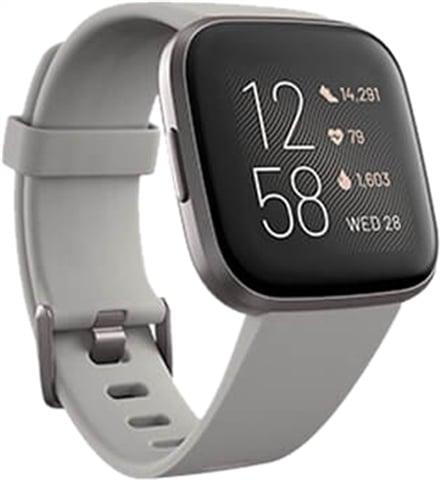 Refurbished: Fitbit Versa 2 Fitness Smartwatch - Mist Grey/ Stone, C