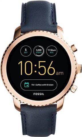 Refurbished: Fossil Gen 3 Explorist FTW4002 Smartwatch - Rose Gold/Black Leather, B