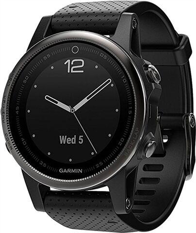 Refurbished: Garmin Fenix 5S Sapphire 42mm Smartwatch - Black, B