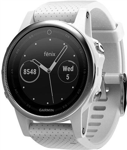 Refurbished: Garmin Fenix 5S 42MM Smartwatch - White/Carrara White, C