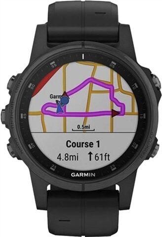 Refurbished: Garmin Fenix 5X Plus Sapphire 51MM Smartwatch - Black, B