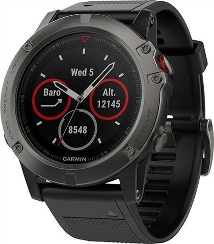 Refurbished: Garmin Fenix 5X Sapphire 51MM Smartwatch - Slate Grey/Black, B