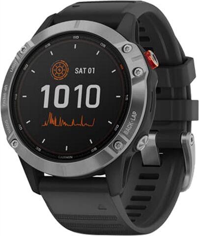 Refurbished: Garmin Fenix 6 Solar Smartwatch - Silver/Black, A