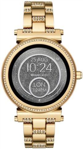 Refurbished: Michael Kors Access Sofie Gold Stone Set Bracelet Smartwatch - DW5B, B