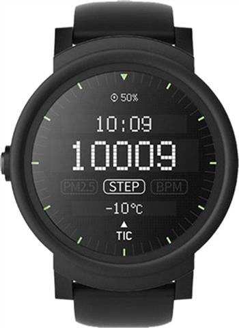 Refurbished: Ticwatch E Express Shadow Smartwatch Black, B
