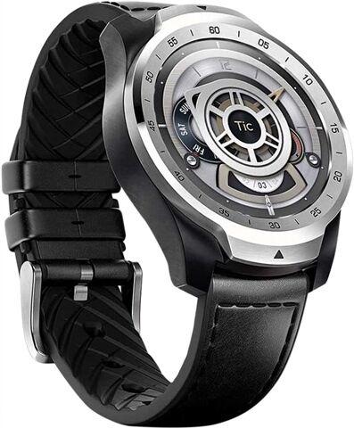 Refurbished: Ticwatch Pro 2020 WF12106 Smartwatch - Silver/Black Leather Strap, B
