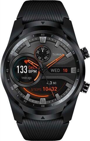 Refurbished: Ticwatch Pro Smartwatch 4G WF11018 Black/Black Silicone, A