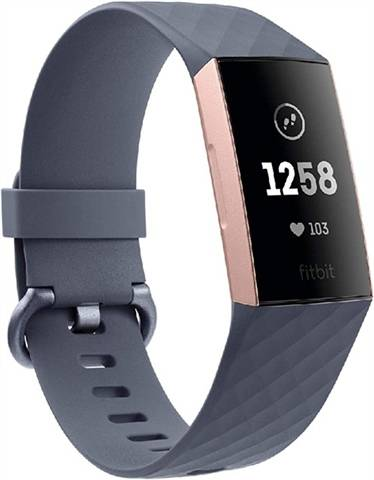 Fitbit Charge 3 Advanced Health + Fitness Tracker Grey/Rose Gold, C