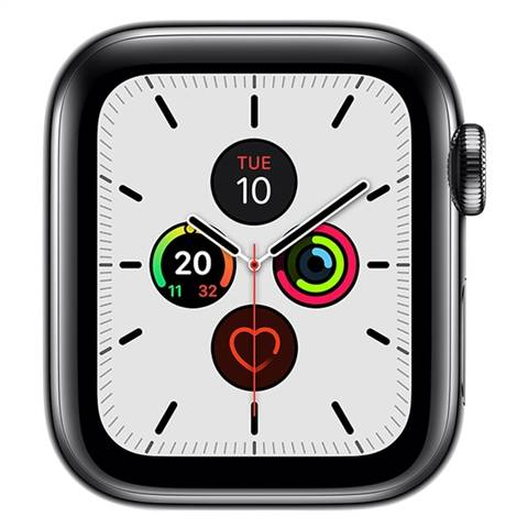 Apple Watch Series 5 (Cellular) NO STRAP, Space Black Stainless Steel, 40mm, B