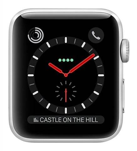 Apple Watch Series 3 (Cellular) NO STRAP, Stainless Steel, 38mm, B