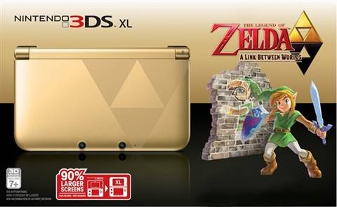 Refurbished: Nintendo 3DS XL Console, Zelda Ed. (No Game), Unboxed