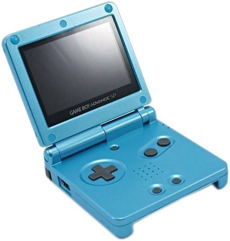 Refurbished: Game Boy Advance SP AGS-101 Console, Surf Blue, Unboxed