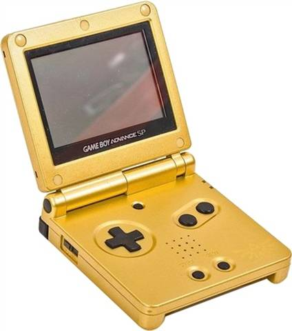 Refurbished: Game Boy Advance SP AGS-001 Console, Legend of Zelda Gold, Boxed