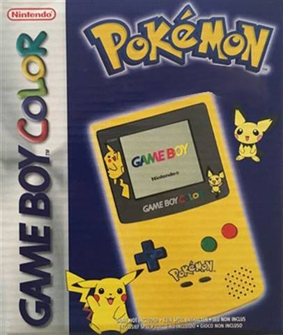 Refurbished: Game Boy Color Console, Pikachu/Pichu Yellow, Boxed
